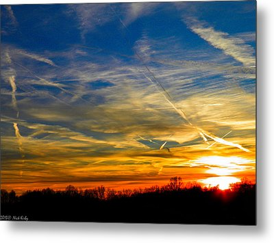 Leavin On A Jetplane Sunset Metal Print