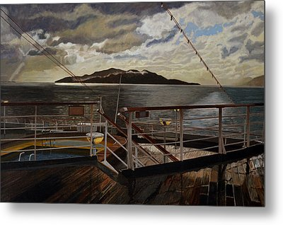 Leaving Queen Charlotte Sound Metal Print by Thu Nguyen