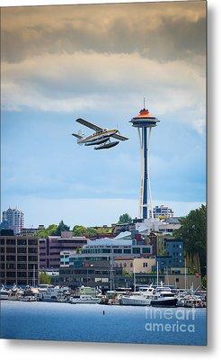 Leaving Seattle Metal Print by Inge Johnsson