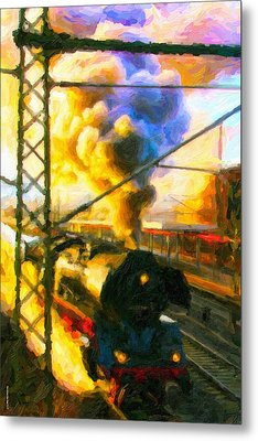 Metal Print featuring the digital art Leaving The Station by Chuck Mountain