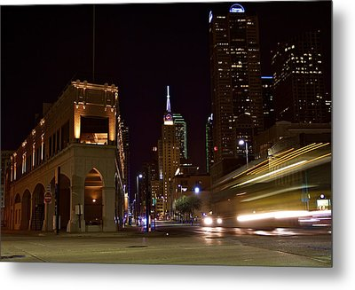 Metal Print featuring the photograph Leaving Town by John Babis
