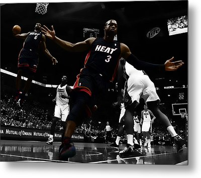 Lebron And D Wade Showtime Metal Print