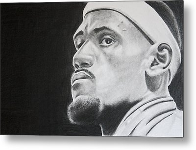 Lebron Metal Print by Don Medina