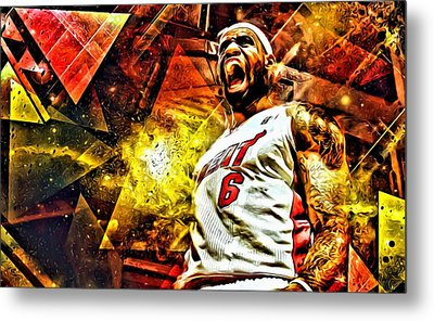 Lebron James Art Poster Metal Print by Florian Rodarte