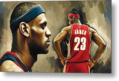 Lebron James Artwork 1 Metal Print by Sheraz A