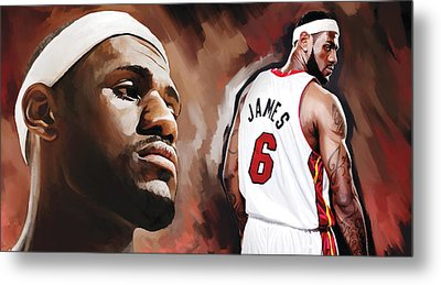 Lebron James Artwork 2 Metal Print by Sheraz A