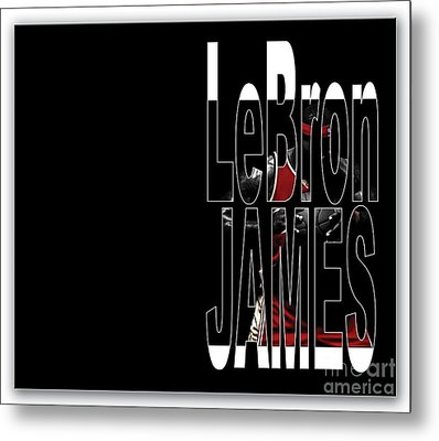 Lebron James Metal Print by Marvin Blaine