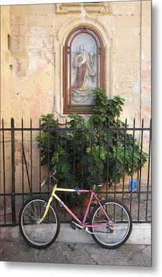 Lecce Italy Bicycle Metal Print by John Jacquemain