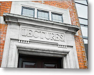 Lecture Theatre Metal Print by Tom Gowanlock