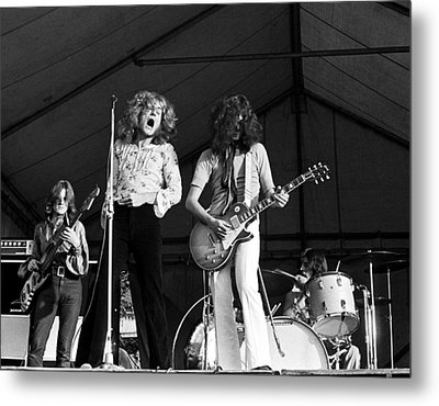 Led Zeppelin Bath Festival 1969 Metal Print