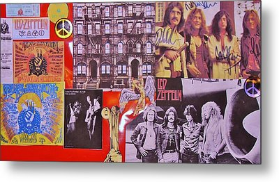 Led Zeppelin  Collage Number Two Metal Print by Donna Wilson