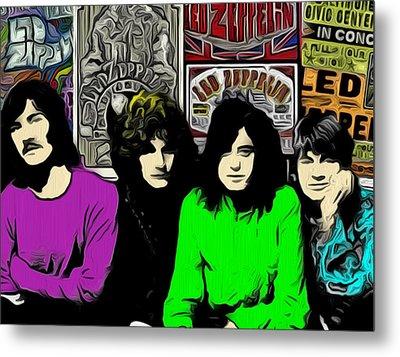 Led Zeppelin Metal Print by GR Cotler