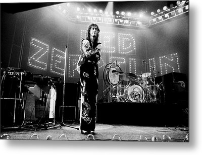 Led Zeppelin Lights 1975 Metal Print by Chris Walter