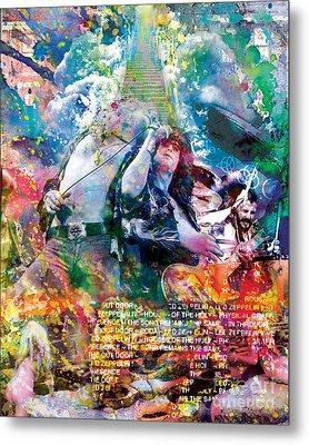 Led Zeppelin Original Painting Print  Metal Print by Ryan Rock Artist