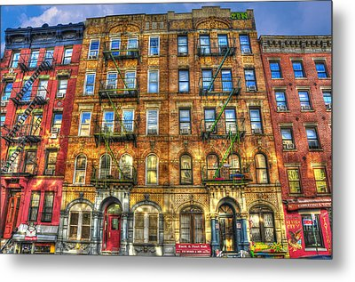 Led Zeppelin Physical Graffiti Building In Color Metal Print by Randy Aveille