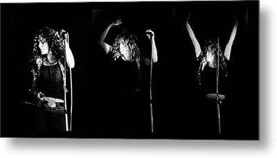 Led Zeppelin Robert Plant Triptych Metal Print by Chris Walter