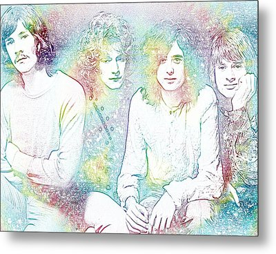 Led Zeppelin Tie Dye Metal Print
