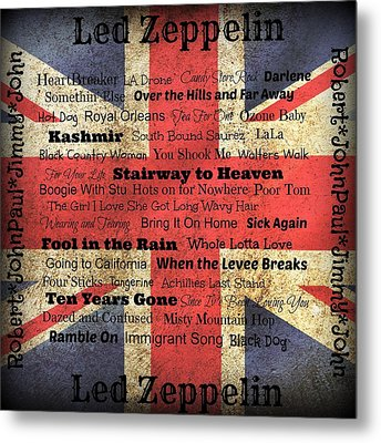 Led Zeppelin Metal Print by Treesha Duncan