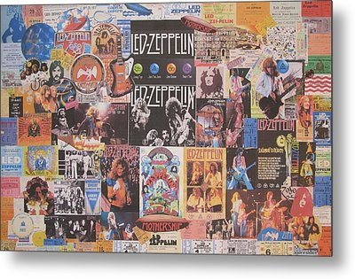 Led Zeppelin Years Collage Metal Print