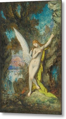 Leda And The Swan Metal Print by Gustave Moreau
