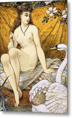 Leda And The Swan Metal Print by William Stephen Coleman