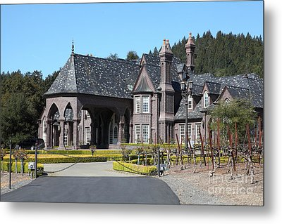 Ledson Winery And Vineyard In Late Winter Just Before The Bloom 5d22194 Metal Print by Wingsdomain Art and Photography