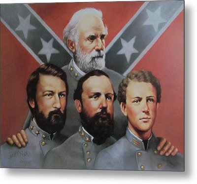 Lee And His Sons Metal Print by Janet McGrath