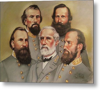 Lee And His Valiant Men Metal Print by Janet McGrath