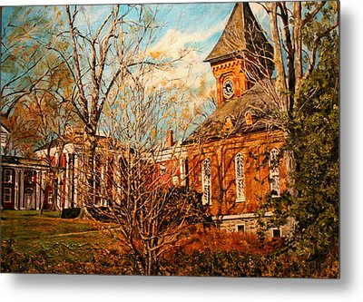 Lee Chapel From The Lower Walk Metal Print