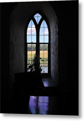 Leeds Castle Window Metal Print