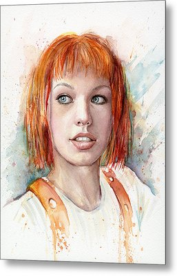 Leeloo Portrait Multipass The Fifth Element Metal Print by Olga Shvartsur