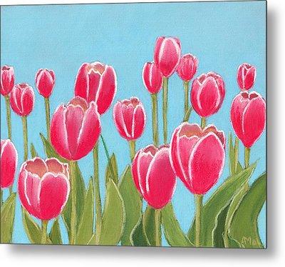 Leen Van Der Mark Tulips Metal Print