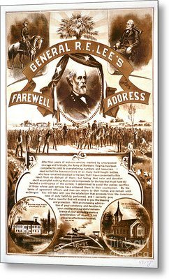 Lee's Farewell Address 1865 Metal Print by Padre Art