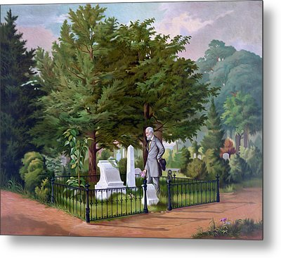 Lee's Final Visit To Stonewall Jackson  Metal Print