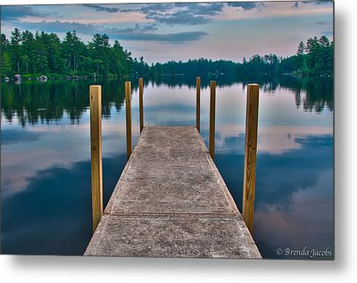 Lees Mills Dock Metal Print by Brenda Jacobs