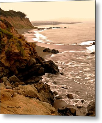 Leffingwell Landing Cambria Detail 2 Metal Print by Barbara Snyder