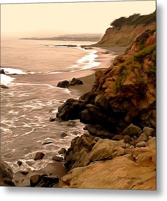 Leffingwell Landing Cambria Detail Metal Print by Barbara Snyder
