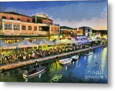Lefkada Town During Dusk Time Metal Print by George Atsametakis