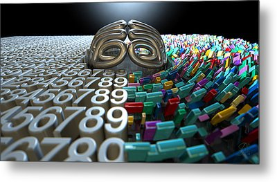 Left And Right Brain Concept Metal Print