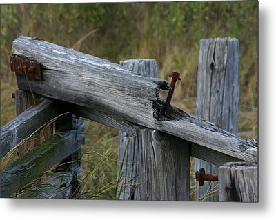 Left Behind At The Marsh Metal Print by Denyse Duhaime