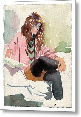Leg Warmer Student Metal Print by Mark Lunde