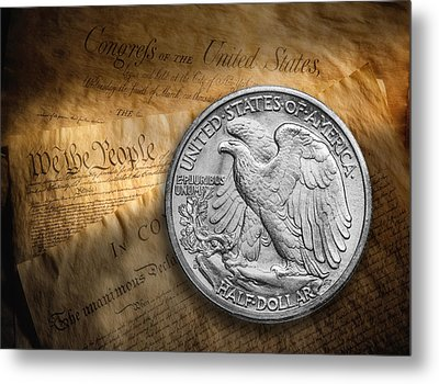 Legal Tender Metal Print by Tom Mc Nemar