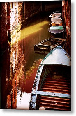 Metal Print featuring the photograph Legata Nel Canale by Micki Findlay