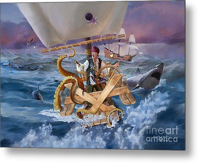 Metal Print featuring the painting Legendary Pirate by Rob Corsetti