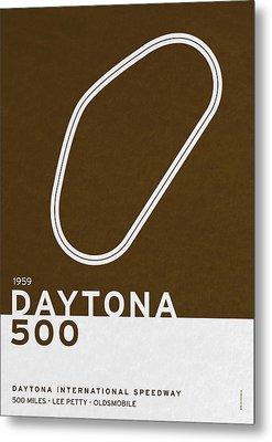 Legendary Races - 1959 Daytona 500 Metal Print by Chungkong Art