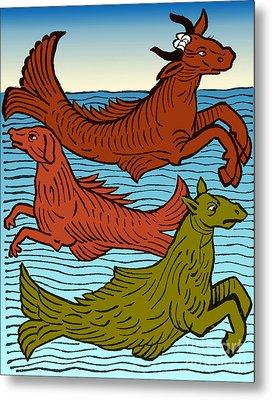 Legendary Sea Creatures, 15th Century Metal Print
