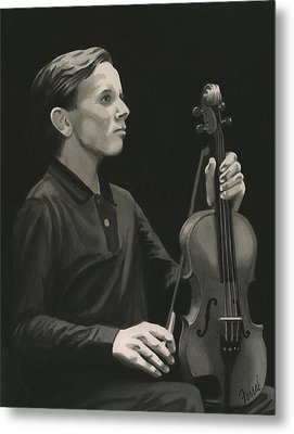 Metal Print featuring the painting Legendary Violinist by Ferrel Cordle