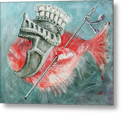 Metal Print featuring the painting Legionnaire Fish by Marina Gnetetsky