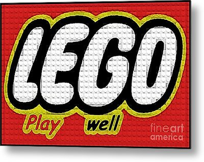 Lego Play Well Metal Print by Scott Allison
