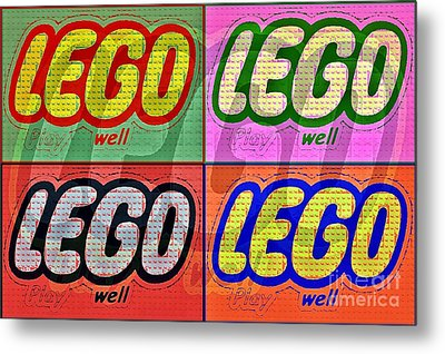 Lego Pop Art Metal Print by Scott Allison
